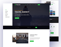 Travel Agency Home Page Design