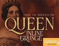 Free Font - Queen Inline Grunge