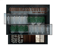 Interiores Comerciais - Proposta para loja de roupas