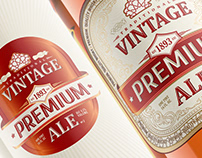 Vintage ALE Whisky Label-Packaging Branding