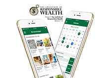 Institute of Responsible Wealth Mobile App UI