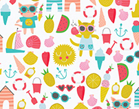 A Cat Summer Holiday / Print and Pattern Collection