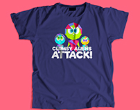 Clumsy Aliens | T-shirt Design