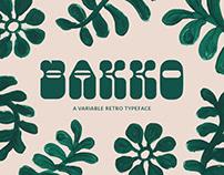Bakko | Variable Typeface #2682QCA