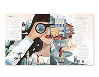 Illustration for The New York Times Travel Magazine