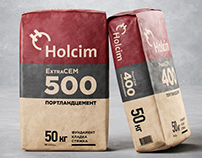 Dry building mixes Holcim packaging restyling