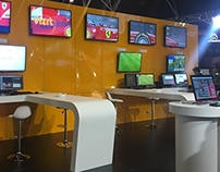 Vizrt Trade show Booth Design / SMPTE