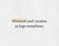 55 Logo Templates Bundle. Minimal and Creative.