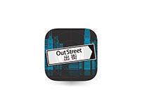 OutStreet App Icon Design
