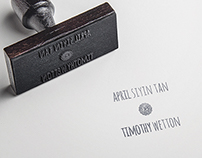 Tim & April Wetton's wedding invite