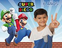 Foto Ímãs de Aniversário Batman e Super Mario