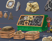 Fruit Stand and Fossil Stand