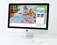 """""""VIVO bookings"""" internetinio puslapio dizainas"""