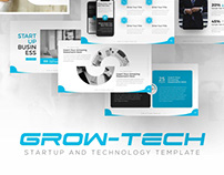 Grow-Tech Startup PowerPoint Presentation Template