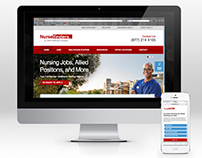 Nursefinders Mobile and Desktop Website Redesign