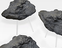 Stone Foam Stool