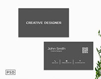 Free Light Black Business Card Template