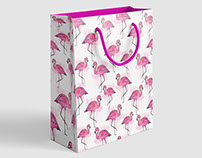 Pink flamingo summer pattern