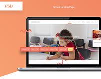 School landing page - PSD