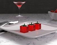 Molecular Strawberry Jelly