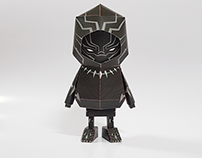 029_ Black Panther [Paper Toy Boogie Hood]