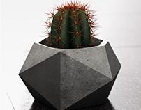 Chac Mool - Geometric polygonal flower pots