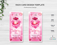Valentines Day Rack Card Title Design