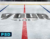 Ice Hockey Rink Logo Mockup