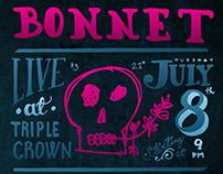Bonnet Gig Poster for July 8, 2014