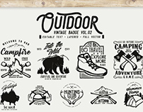 Outdoor Vintage Badge Vol.02