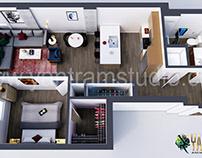 Residential 3D Floor Plan Design Concept