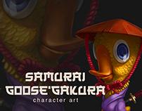 Samurai Goose Character Art