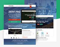 Zerif Pro theme landing page presentation