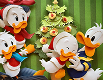Merry Christmas paper sculpture