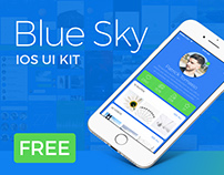 Blue Sky – Free iOS UI Kit