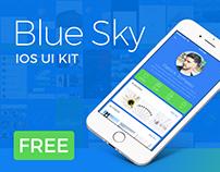 Blue Sky – Free iOS UI Kit