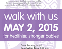 March for Babies Poster