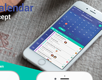 Family calendar iOS app concept