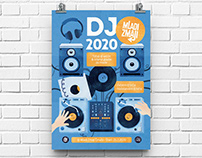 DJing Digital Illustration