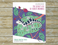 The Secret Life Of Forest Animals - Coloring Book