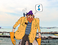 Fishing oldman