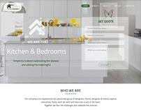 Website Design For UK based Kitchen and Bedrooms