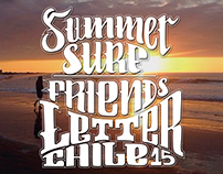 SUMMER + SURF + PICTURES + HAND LETTER
