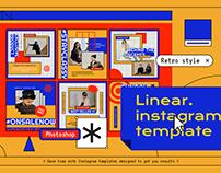 Linear Instagram Template