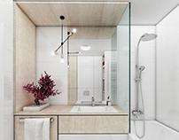 jasna, nowoczesna łazienka