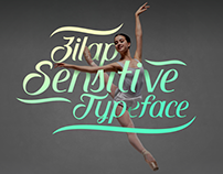 Zilap Sensitive Typeface
