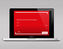 Canon: Interactive sales product brochure