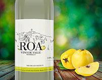 ROA, Artisian quince wine label