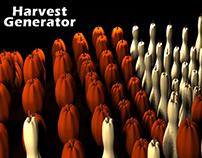 Harvest Generator for Maya