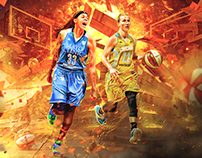 2016 WNBA Playoffs Social Media Graphics